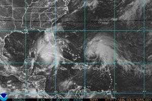 Photo satellite ouragan Gustav et tempête tropicale Hanna.